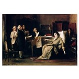 Mozart directing his Requiem on his deathbed (oil