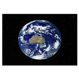 Fully lit Earth centered on Australia and Oceania