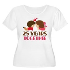 25 Years Together Anniversary T-Shirt
