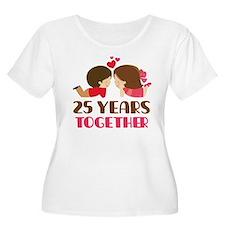 25 Years Together Anniversary T-Shirt