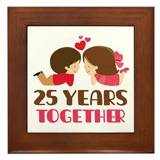 25 Years Together Anniversary Framed Tile