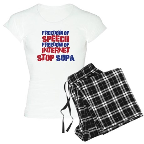 Stop SOPA Women's Light Pajamas