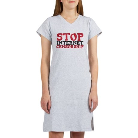 Stop internet censorship Women's Nightshirt