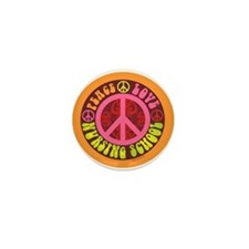 Peace, Love, Nursing School Mini Button