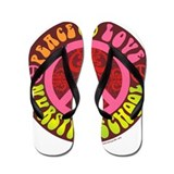 Peace, Love, Nursing School Flip Flops