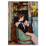 Mlle. Guillaumin reading, 1907