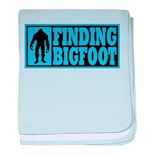 Finding Bigfoot logo baby blanket