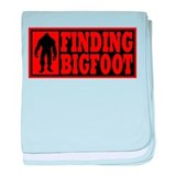 Finding Bigfoot logo baby blanket