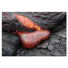 Kilauea Pahoehoe lava flow Big Island Hawaii