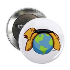 "Airedale World 2.25"" Button"