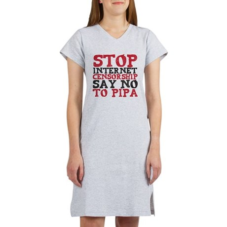 Say No to PIPA Women's Nightshirt
