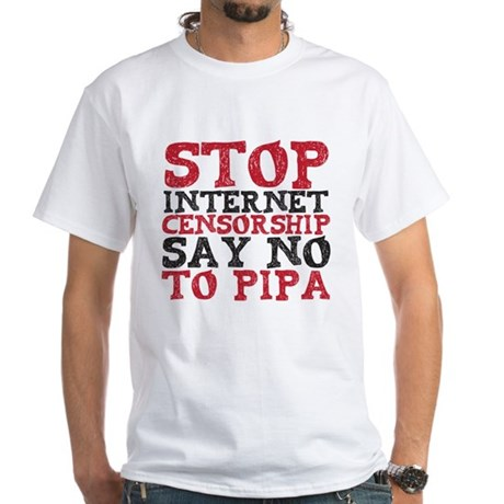 Say No to PIPA White T-Shirt