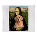 Mona Lisa/Golden #8 Throw Blanket
