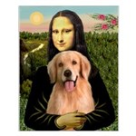 Mona Lisa/Golden #8 Small Poster