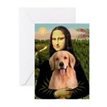 Mona Lisa/Golden #8 Greeting Cards (Pk of 20)