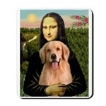 Mona Lisa/Golden #8 Mousepad