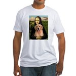 Mona Lisa/Golden #8 Fitted T-Shirt