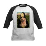 Mona Lisa/Golden #8 Kids Baseball Jersey