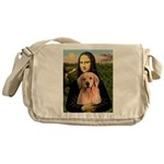 Mona Lisa/Golden #8 Messenger Bag