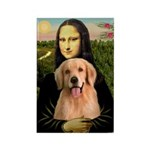 Mona Lisa/Golden #8 Rectangle Magnet (10 pack)