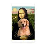 Mona Lisa/Golden #8 Sticker (Rectangle)
