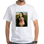 Mona Lisa/Golden #8 White T-Shirt