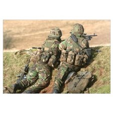 British Army soldiers participate in sustained fir