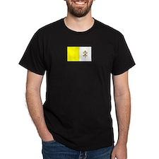 Vatican City Black T-Shirt