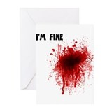 I'm Fine Greeting Cards (Pk of 10)