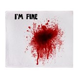 I'm Fine Throw Blanket