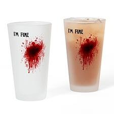 I'm Fine Drinking Glass