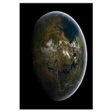 Artists concept of a terraformed Mars