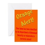 Orange Alert Greeting Cards (Six cards)