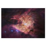 The center of the Orion Nebula, known as the Trape