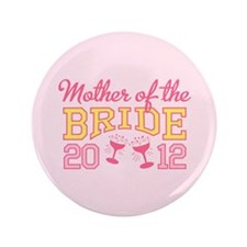 "Mother Bride Champage 2012 3.5"" Button (100 pack)"