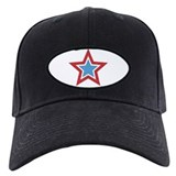 Red White and Blue Star Baseball Hat