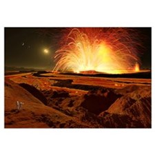 Future astronauts observe an eruption on Io, Jupit