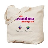 Personalized Grandma 2 boys Tote Bag