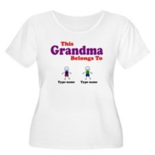 Personalized Grandma 2 boys T-Shirt