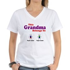 Personalized Grandma 2 boys Shirt