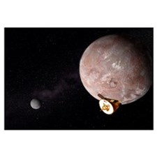 Artists concept of the New Horizons spacecraft fly
