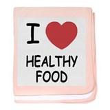 I heart healthy food baby blanket
