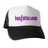 HAMFATTER.COM Pink Star Trucker Hat