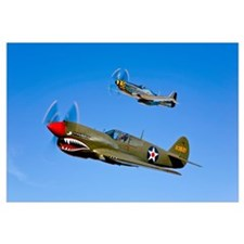 A P 40E Warhawk and a P 51D Mustang Kimberly Kaye