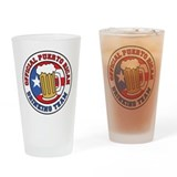 Puerto Rican Drinking Team Drinking Glass