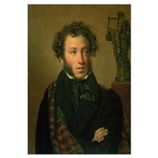 Portrait of Alexander Pushkin, 1827 (oil on canvas