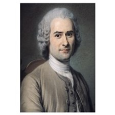Portrait of Jean Jacques Rousseau (1712-78) (paste