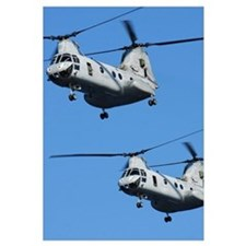 Two U.S. Marine Corps CH 46E Sea Knight helicopter