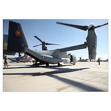 V 22 Osprey tiltrotor aircraft at Camp Bastion, Af