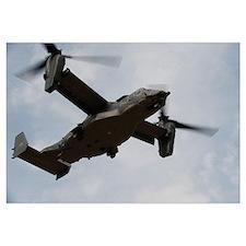 A U.S. Air Force CV 22 Osprey tiltrotor aircraft